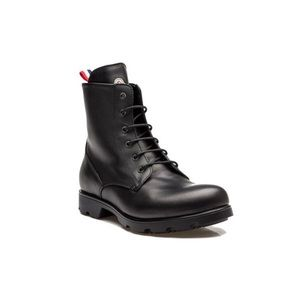 Moncler Vancouver Leather Lace Up Combat Boot